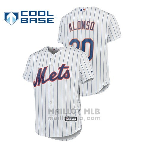 Maillot Baseball Enfant New Y Ork Mets Pete Alonso Cool Base Majestic Domicile Blanc